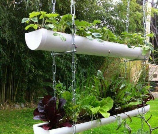hanging garden gutter