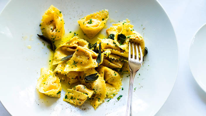 Tortellini with Pumpkin and Sage Butter