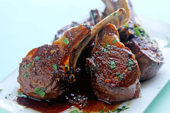 lamb cutlets with crispy sage